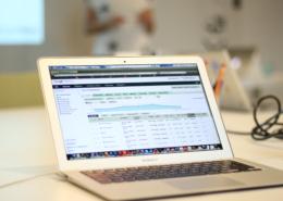 Mac dator med adwordsstatistik