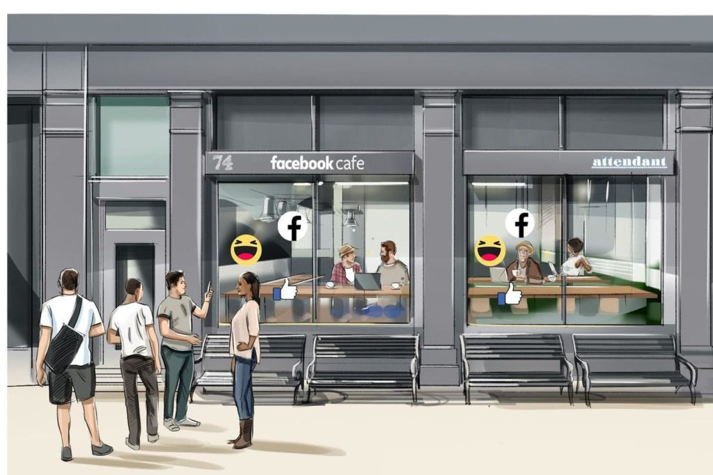 Facebook öppnar café