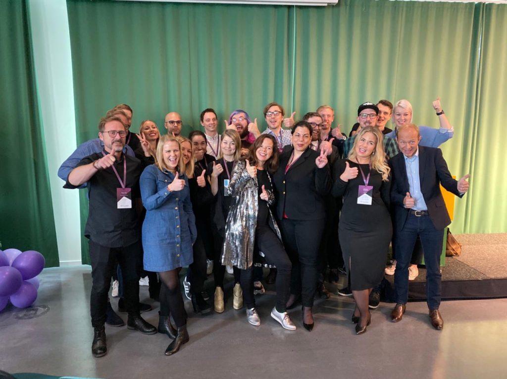 topvisible personal tillsammans med talarna på searchstars 2019