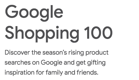 Google Shopping 100 trends