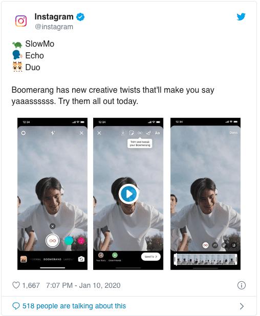 Instagram Boomerang får nya effekter
