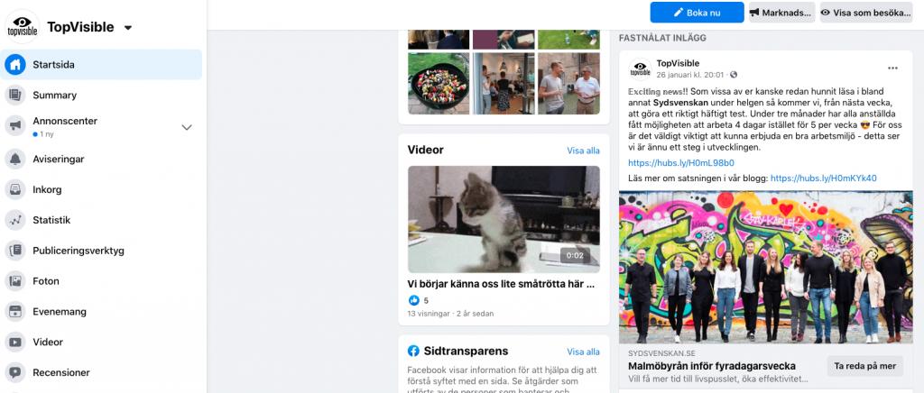 Digitala nyheter-ny facebook design