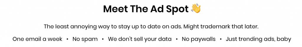 The Ad Spot nyhetsbrev