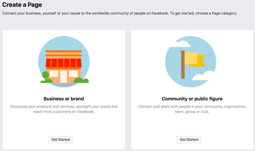 Företagssida på Facebook