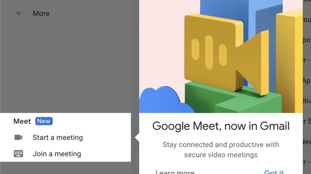 google meet direkt i mejlen