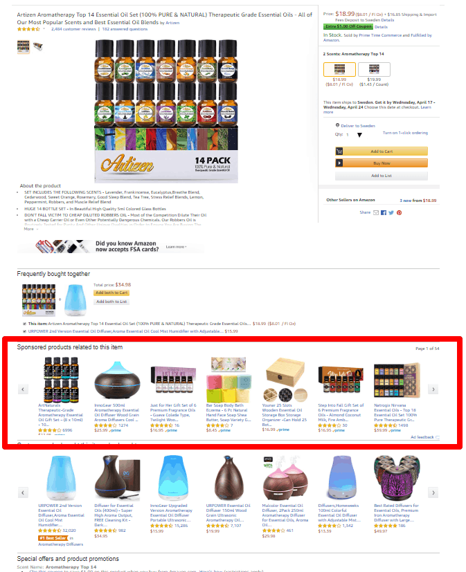 Amazon product targeting