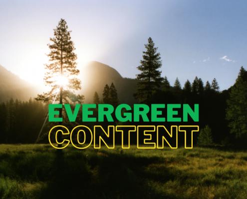 Evergreen content och content marketing