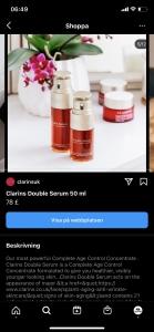Instagram Shopping produktsida