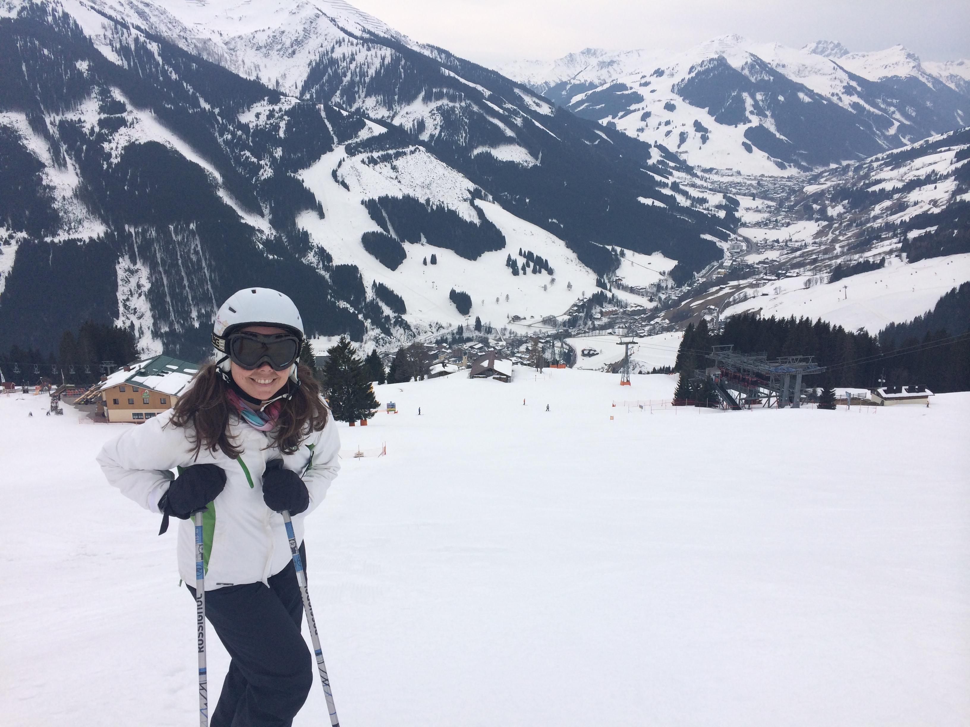 Maria på slalom