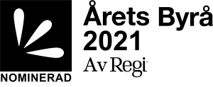 Årets byrå Sverige 2021 Nominerad logo