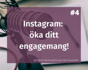 Öka ditt engagemang på instagram