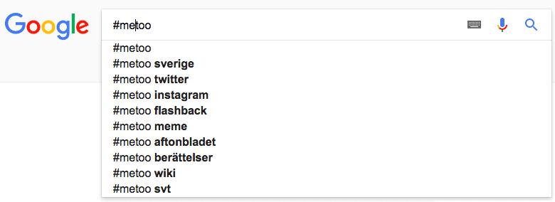 #metoo Google Search