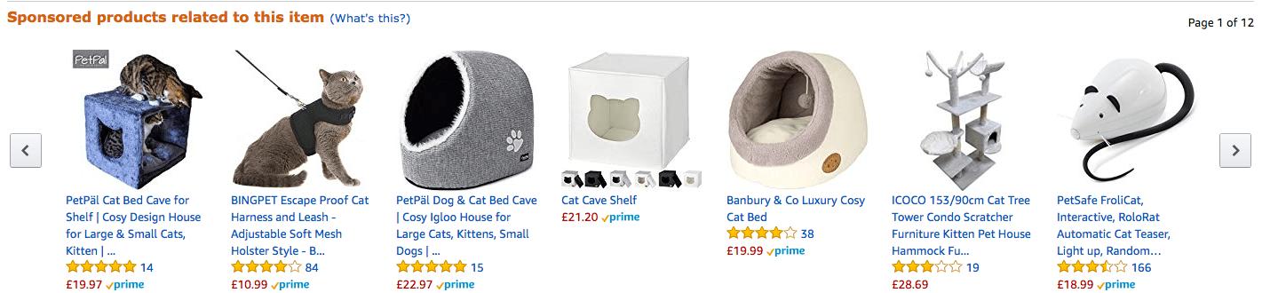 Sponsrade produkter Amazon