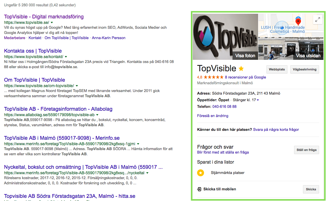 Google My Business voice search