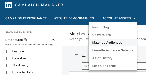 Matched Audiences LinkedIn