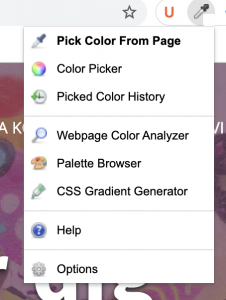 ColorZilla extension