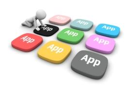 Illustration av appar