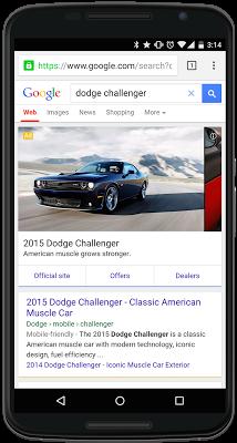 Nya bilannonser på Google.