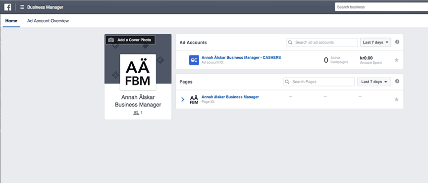 Overview Facebook business manager